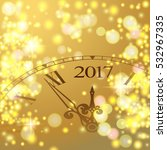 2017 new year gold shining... | Shutterstock .eps vector #532967335