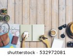 concept of hipster travel... | Shutterstock . vector #532972081