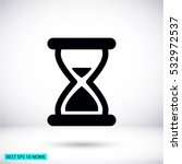 hourglass vector icon 10 eps | Shutterstock .eps vector #532972537