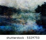 Impressionist Landscape - stock photo