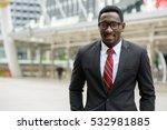 young happy african businessman ...   Shutterstock . vector #532981885