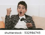 child with the remote control... | Shutterstock . vector #532986745