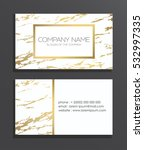 elegant business card with... | Shutterstock .eps vector #532997335