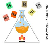 chemical experiments  the... | Shutterstock .eps vector #533004289
