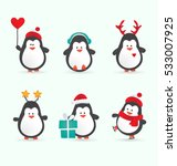 Christmas Penguin Characters  ...