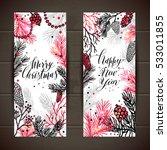 merry christmas greeting set of ... | Shutterstock .eps vector #533011855