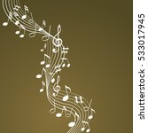 music notes on a brown...   Shutterstock .eps vector #533017945