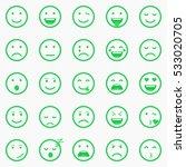 set of green emoticons  emoji... | Shutterstock .eps vector #533020705