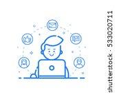 vector illustration of blue... | Shutterstock .eps vector #533020711