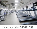 image of treadmills in a... | Shutterstock . vector #533021059