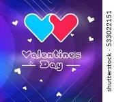 postcard of valentine's day in... | Shutterstock .eps vector #533022151