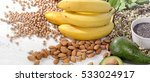 foods containing magnesium.... | Shutterstock . vector #533024917