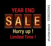 year end sale background. year... | Shutterstock .eps vector #533025541