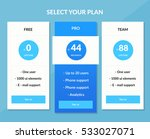 vector pricing table template... | Shutterstock .eps vector #533027071