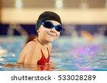 girl child swimmer in a red... | Shutterstock . vector #533028289