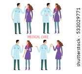woman patient and doctor set.... | Shutterstock .eps vector #533029771