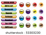set of color web buttons with... | Shutterstock .eps vector #53303230
