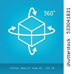 virtual reality icons series ... | Shutterstock .eps vector #533041831