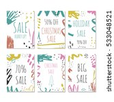 set of 6 creative sale holiday... | Shutterstock .eps vector #533048521