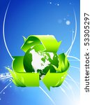 recycle globe on abstract... | Shutterstock .eps vector #53305297