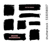 set of black paint  ink brush... | Shutterstock .eps vector #533058007