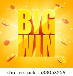big win sign with gold... | Shutterstock .eps vector #533058259