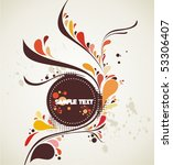 decorative shape illustration | Shutterstock .eps vector #53306407