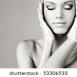 beautiful portrait of the girl | Shutterstock . vector #53306533
