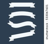 vector set white ribbon banners ... | Shutterstock .eps vector #533067601