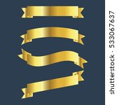 vector set gold ribbon banners...   Shutterstock .eps vector #533067637