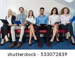 smiling candidates wait for job ... | Shutterstock . vector #533072839