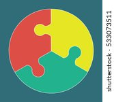circular colorful puzzle icon... | Shutterstock .eps vector #533073511