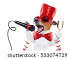 jack russell dog celebrating... | Shutterstock . vector #533074729