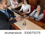 business man arrive to hotel... | Shutterstock . vector #533075275