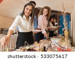 people group catering buffet... | Shutterstock . vector #533075617