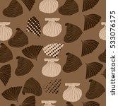 seamless sea pattern  halftone .... | Shutterstock . vector #533076175