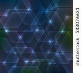 abstract hexagon dark... | Shutterstock .eps vector #533076631