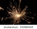 fire spark xmas with black... | Shutterstock . vector #533084365