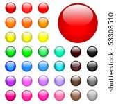 colorful round buttons | Shutterstock .eps vector #53308510