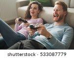 Beautiful Couple Playing Video...
