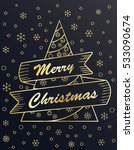 gold merry christmas card in... | Shutterstock .eps vector #533090674