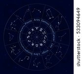 zodiac signs. set of  all... | Shutterstock .eps vector #533094649