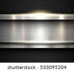background silver metallic ... | Shutterstock .eps vector #533095204