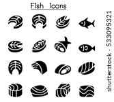 fish meat icons | Shutterstock .eps vector #533095321