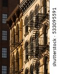 soho building facades with fire ... | Shutterstock . vector #533095591
