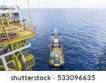 offshore works. top view of... | Shutterstock . vector #533096635