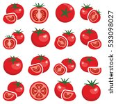 tomato vegetable icon... | Shutterstock .eps vector #533098027