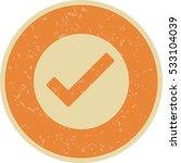 vector valid icon | Shutterstock .eps vector #533104039