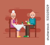 grandmother and grandfather... | Shutterstock .eps vector #533105029