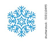 snowflake winter isolated on... | Shutterstock .eps vector #533110495